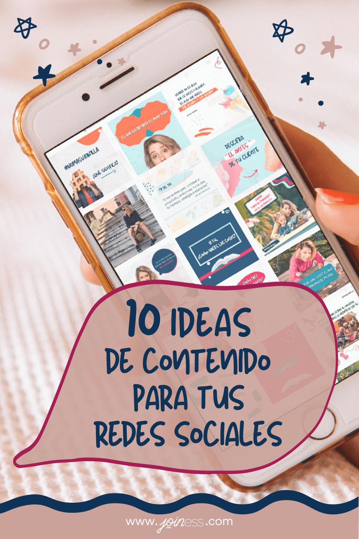10 ideas de contenido para tus edes Sociales